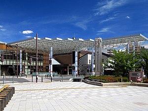 Asaka Station (Saitama) - The south entrance in September 2012