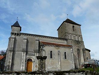 Augignac - The church in Augignac