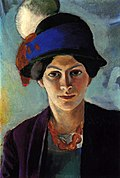 Portrait of the Artist's Wife with a Hat (1909)