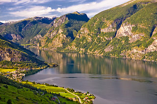 Flåm Village in Western Norway, Norway