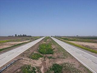 Autopista Rosario - Córdoba km 365 hacia el Oeste.JPG
