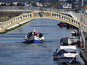Aveiro bridge over canal
