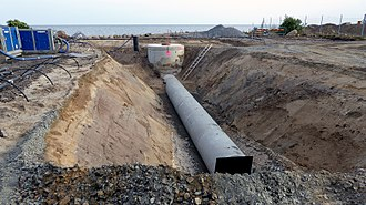 Sewerage - Sewers under constrution in Ystad, Sweden