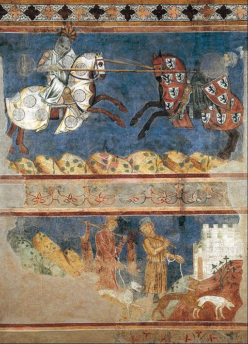 Azzo di Masetto, Tournament and Hunting Scenes, San Gimignano, Palazzo Comunale