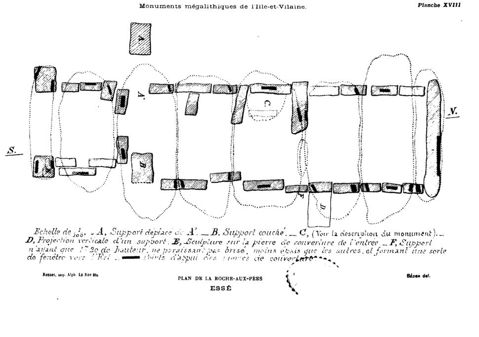 Bézier - Plan de la roche-aux-fées