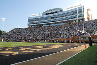 BB&T Field - Image: BBT Field Deacon Tower Wake Forest University football stadium