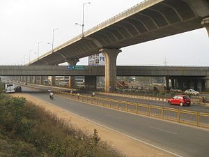 Hosur Road Elevated Expressway - The Bangalore Elevated Tollway as seen over NICE Road