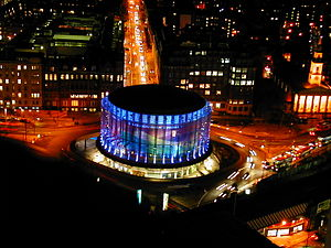 BFI IMAX - Aerial view at night