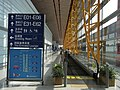 BJ 北京首都國際機場 Beijing Capital International Airport BCIA interior signs moving walkway Aug-2010.JPG