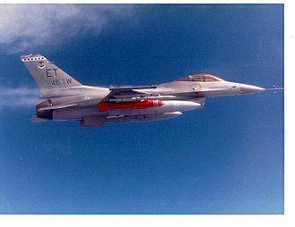 BLU-109 bomb - A BLU-109 aboard a General Dynamics F-16 Fighting Falcon configured as a JDAM