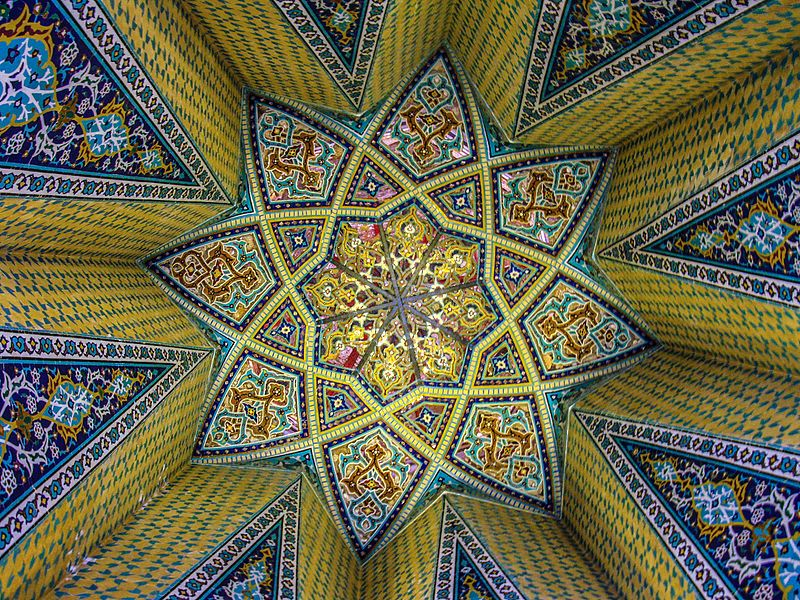 File:Baba Taher tomb ceiling.jpg