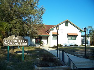 National Register of Historic Places listings in Polk County, Florida - Image: Babson Park Womans Club 01