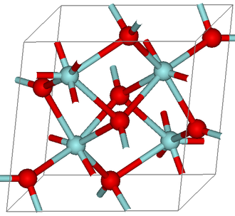 Baddeleyite - Image: Baddeleyite Structure