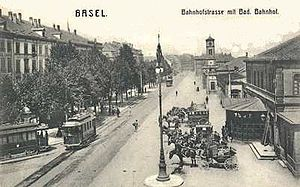 Basel Badischer Bahnhof - Badischer Bahnhof from 1862 in 1900