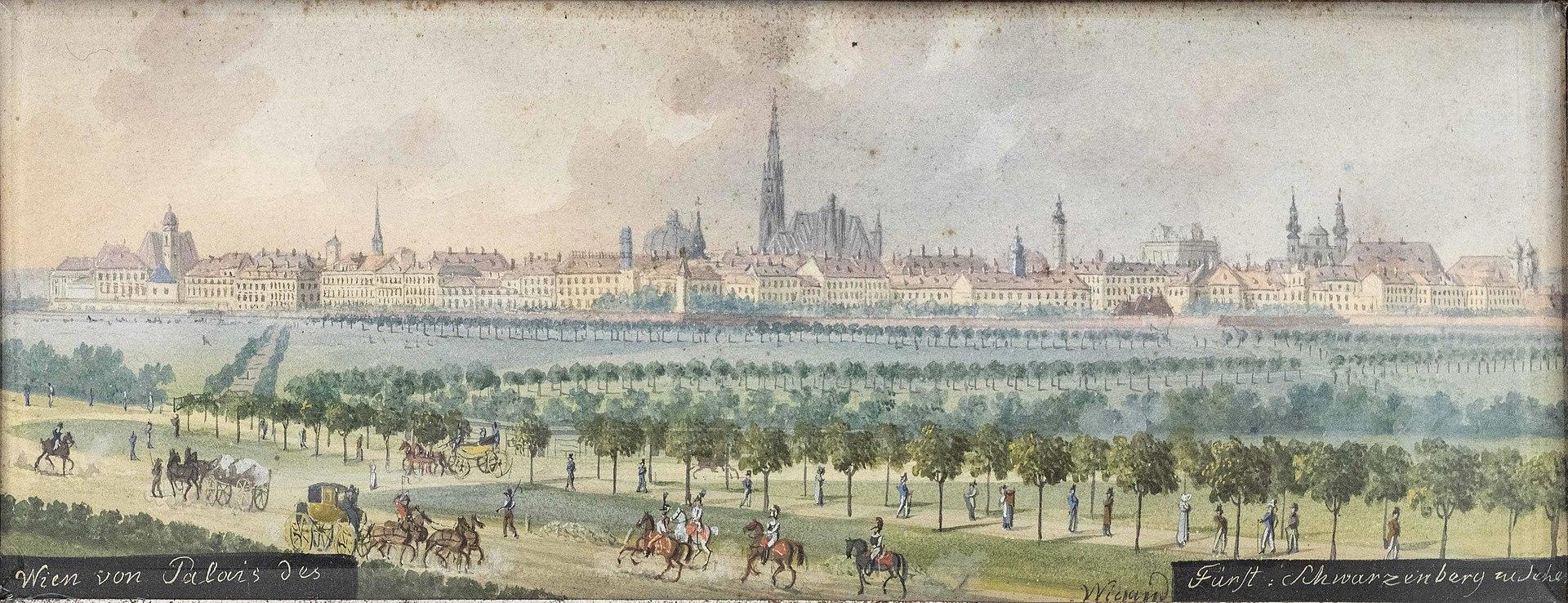 Balthasar Wigand Wien vom Palais Schwarzenberg aus gesehen.jpg