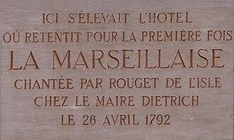 La Marseillaise - Image: Banque de France Strasbourg (3) Marseillaise