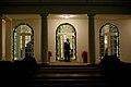 Barack Obama leaving his secretary office at night.jpg