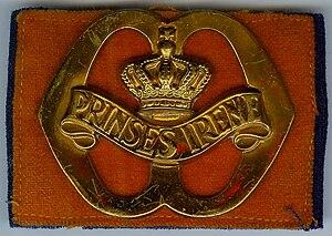 Garderegiment Fuseliers Prinses Irene - Image: Baretembleem Prinses Irene