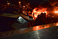 Barricades at independence square on fire during clashes in Kyiv, Ukraine. Events of February 18, 2014.jpg