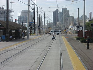 Barrio Logan station - View of the Blue Line station, Barrio Logan (2010)