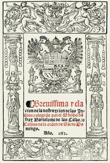 cover of the brevsima relacin de la destruccin de las indias bartolom de las casas