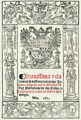 A Short Account of the Destruction of the Indies - Cover of the Brevísima relación de la destrucción de las Indias