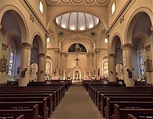 Basilica of St. Paul (Daytona Beach, Florida) - Interior of the Basilica.