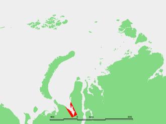 Baydaratskaya Bay - Location of Baydaratskaya Bay in the Kara Sea.