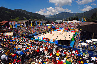 Gstaad - Beachvolleyball Tournament Gstaad—court: Roy Emerson Arena