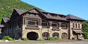 National Register of Historic Places listings in Rockland County, New York - Image: Bear Mountain Inn after reconstruction