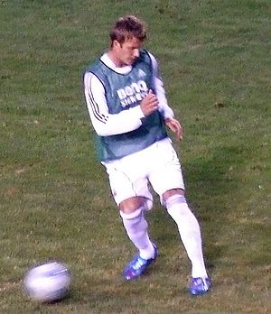 David Beckham - Beckham warming up with Real Madrid in August 2006