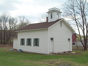 National Register of Historic Places listings in Cattaraugus County, New York - Image: Bedford Corners Historic District Schoolhouse Apr 10
