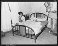 Bedroom of Eddie Cain, miner, who lives in company housing project. Adams, Rowe & Norman Inc., Porter Mine... - NARA - 540595.tif