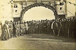 Beersheba Turkish railway station - Opening of the Beersheba R.R.