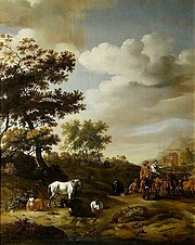 Landscape with travelers and cattle.