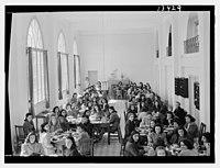 Beirut, Junior Girls' College, dining hall, int(erior), girls at tables LOC matpc.12787.jpg