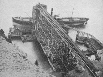 Bell Island (Newfoundland and Labrador) - Bell Island iron ore pier, circa 1900