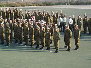Israel Defense Forces insignia - Soldiers of the Combat Engineering Corps being awarded with Grey berets