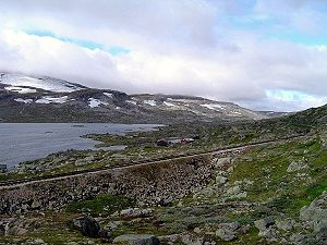 Bergen Line - Abandoned section of the line through Hardangervidda near Finse