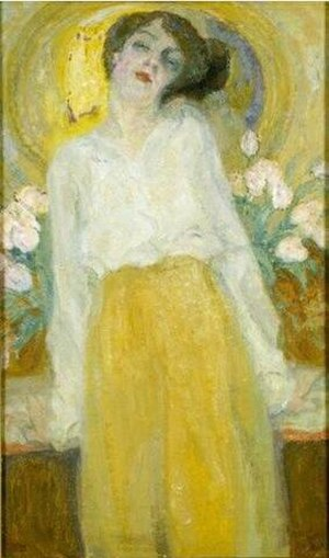 Frits Van den Berghe - Portrait of Stella van de Wiele (1915)