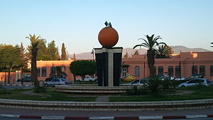 Berkane - The clementine, sculpture in the city centre of Berkane