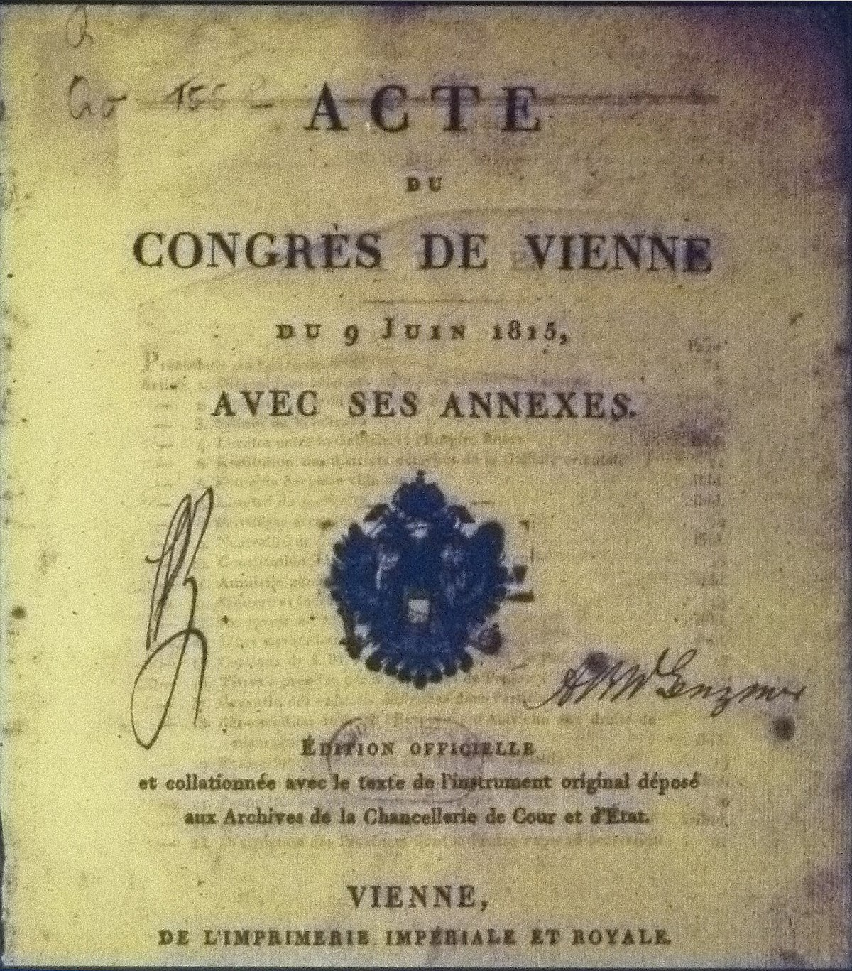 congress of vienna 1815 Congress of vienna in 1815 research papers discuss the meetings of the major european powers that met in vienna from september 1814 to june 1815.