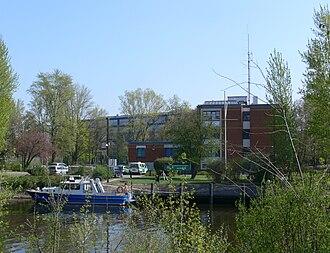 Charlottenburg Canal - Police station on the Charlottenburg Canal