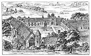 Bermondsey Abbey - Illustration of Bermondsey Abbey