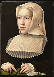 Bernard van Orley: Portret van Margaretha van Oostenrijk