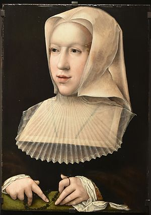 Philibert II, Duke of Savoy - Margaret of Austria as a widow by Bernard van Orley