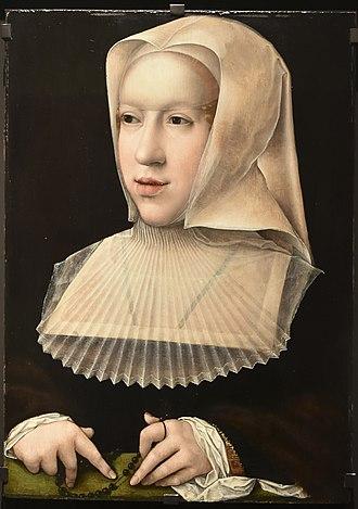 Philibert II, Duke of Savoy - Margaret of Austria as a widow by Bernard van Orley