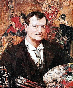Edward Atkinson Hornel - Portrait of E.A. Hornel by Glasgow School contemporary Bessie MacNicol