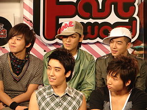 Big Bang (South Korean band) - Big Bang at MTV Fast Forward, Thailand, December 2007