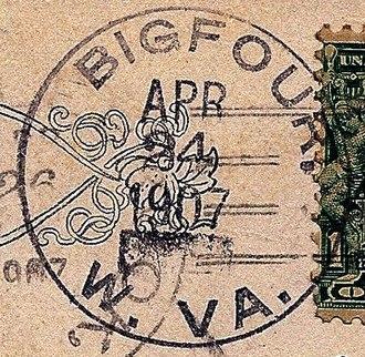 Big Four, West Virginia - Image: Big Four WV postmark
